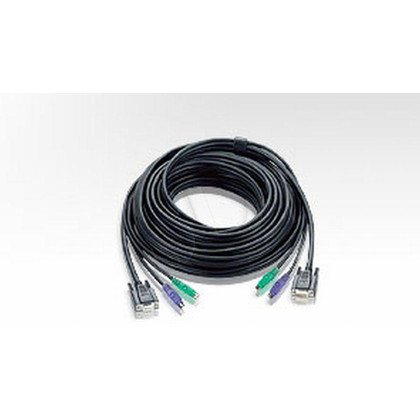 Aten kabel KVM 2L-1010P/C 10m 2x SVGA+klawPS+myszPS czarny