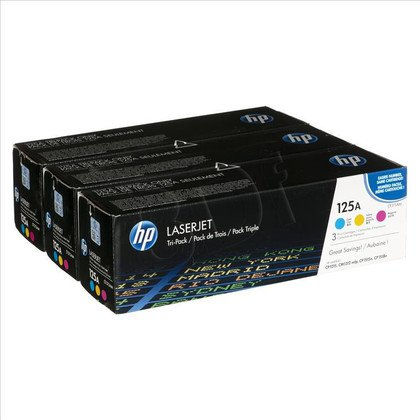 HP Toner HP125A=CF373AM, Zestaw CMY, CB541A+CB543A+CB542A