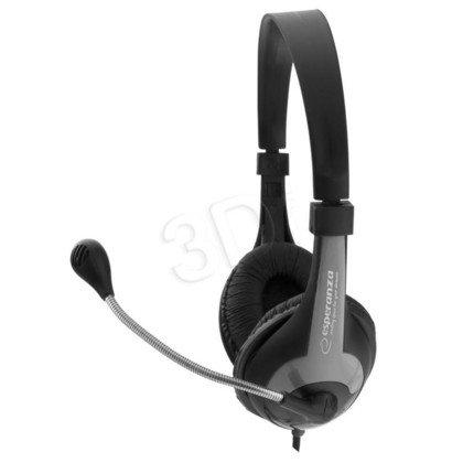 Słuchawki nauszne z mikrofonem Esperanza ROOSTER (Czarno-szare)