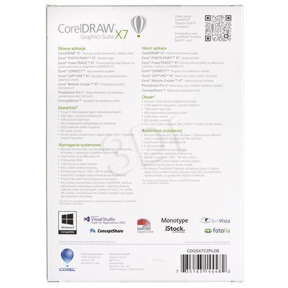 CorelDRAW Graphics Suite X7 DVD Box CZ/PL