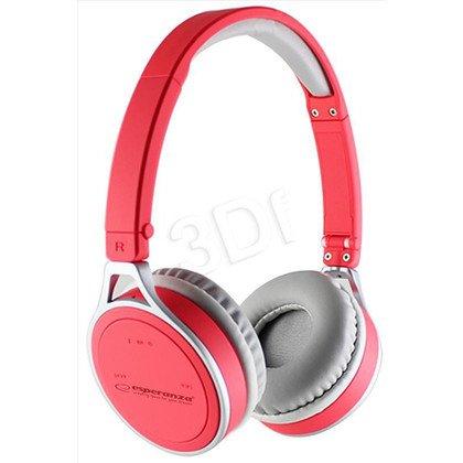 Słuchawki nauszne z mikrofonem Esperanza YOGA (Czerwony Bluetooth)