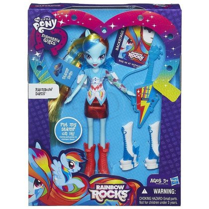 MLP MY LITTLE PONY EQUESTRIA GIRLS Z AKCESORIAMI HASBRO A7250 RAINBOW DASH Z GITARĄ