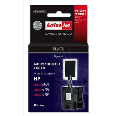 ActiveJet automatyczny system napełniania ARS-650 kolor czarny do HP 703/704/650 3x6ml