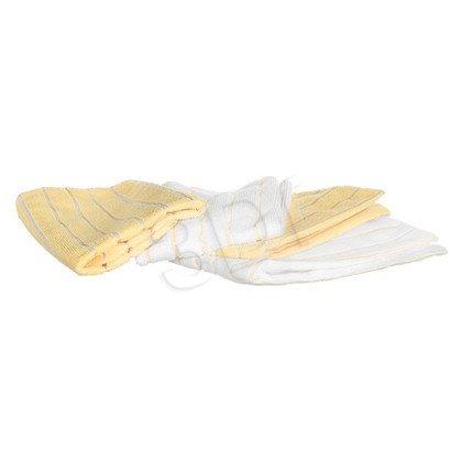Zestaw 4 ściereczek z mikrofibry 40-0022-11 biały, żółty