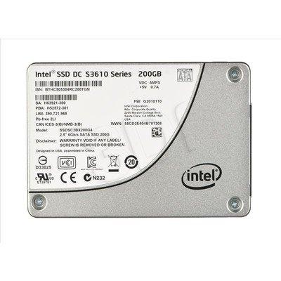 """DYSK SSD INTEL DC S3610 200GB 2,5"""" SATA3 SGL PACK"""