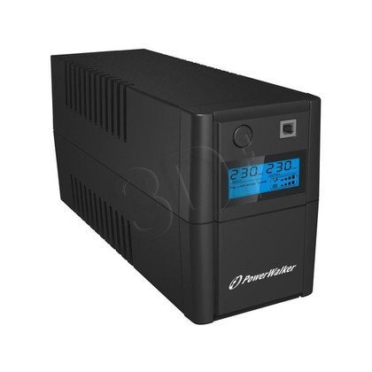 POWER WALKER UPS LINE-INTERACTIVE 850VA 2X 230V PL OUT, RJ11 IN/OUT, USB, LCD