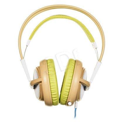 Słuchawki wokółuszne z mikrofonem Steelseries SIBERIA200 (Beżowo-Zielony)