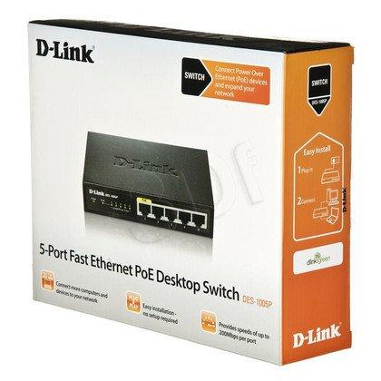 D-LINK DES-1005P/E SWITCH 5x10/100Mbps PoE