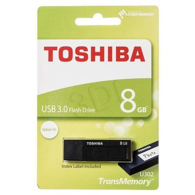 TOSHIBA Flashdrive U302 8GB USB 3.0 czarny