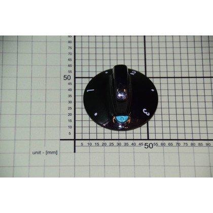 Pokrętło czarne płytki grzejnej 3 z lewej zielony wskaźnik (8005601)