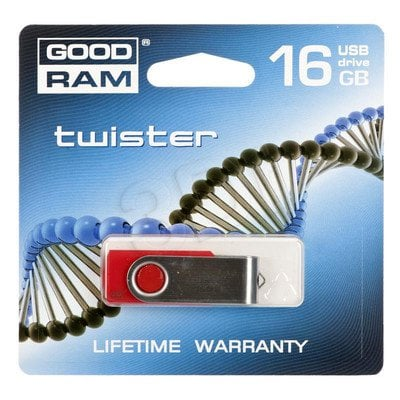 GOODDRIVE FLASHDRIVE 16GB USB 2.0 Twister Red