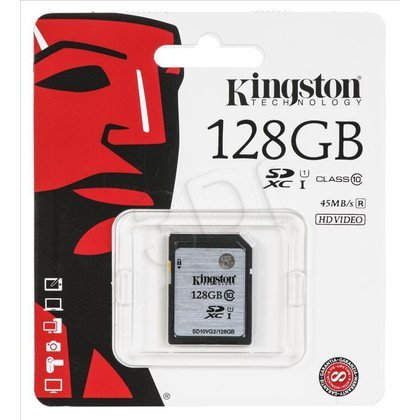 Kingston SDXC SD10VG2/128GB 128GB Class 10,UHS Class U1