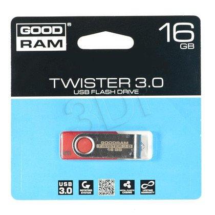 Goodram Flashdrive TWISTER 16GB USB 3.0 Czerwony