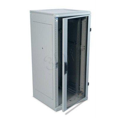 """Triton 19"""" Szafa stojąca RMA-22-A88-CAX-A1 (22U, 800x800mm, przeszklone drzwi, kolor jasnoszary RAL7035)"""