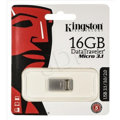 Kingston Flashdrive DTMC3/16GB 16GB USB 3.1 Stalowy