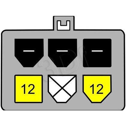 DELOCK KABEL ZASILAJĄCY SATA 15 PIN - PCI EXPRESS 6 PIN 0.21M