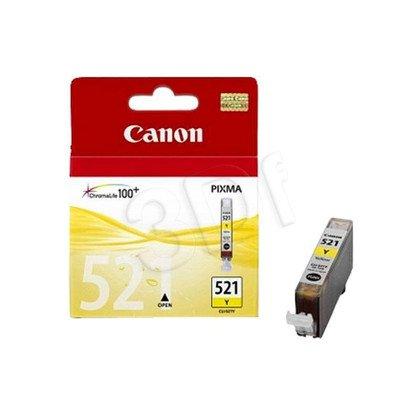 CANON Tusz Żółty CLI-521Y=CLI521Y=2936B001, 350 str., 9 ml