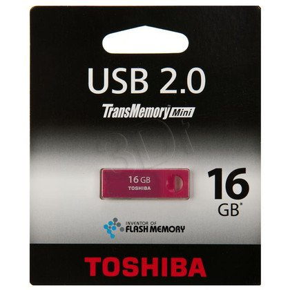 TOSHIBA FLASHDRIVE 16GB USB 2.0 ROSERED