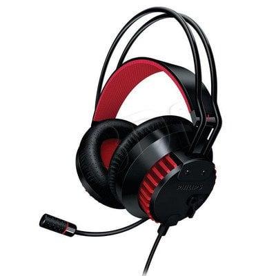 Słuchawki PHILIPS SHG8000/10 /Czarno- czerwone