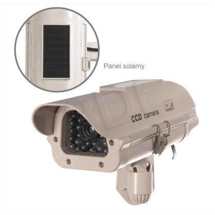 Atrapa kamery tubowej SOL1500 Solarna (beżowa)
