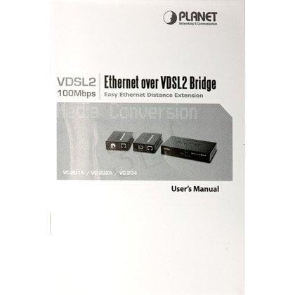 PLANET VC-202A Konwerter VDSL2 (1x BNC, 1x RJ-45)