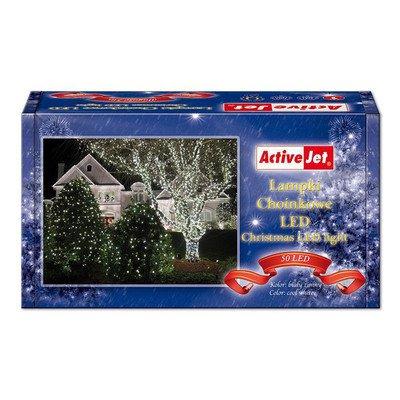 Lampki choinkowe 50LED AJE-CL505CO białe zimne zew