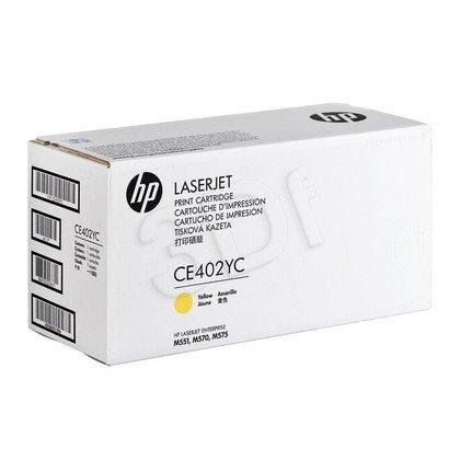 HP Toner Żółty HP507AC=CE402YC, 6000 str.