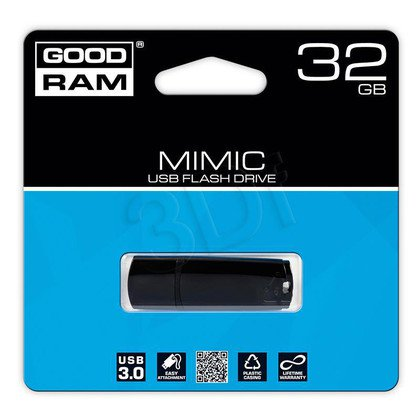 Goodram Flashdrive MIMIC 32GB USB 3.0 Czarny