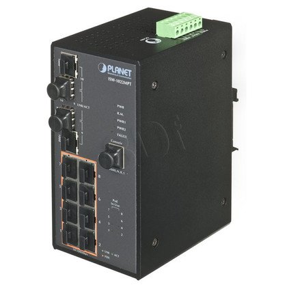 PLANET ISW-1022MPT Switch przem. 8-port z PoE