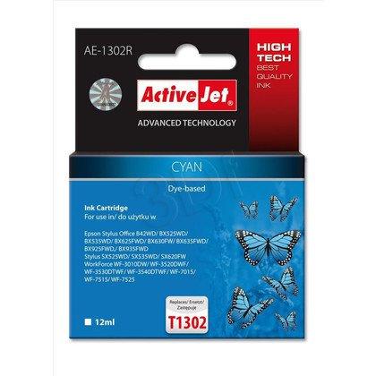 ActiveJet AE-1302R tusz cyan do drukarki Epson (zamiennik Epson T1302) Premium