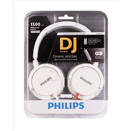 Słuchawki wokółuszne z mikrofonem Philips SHL3105WT/10 (Biały)
