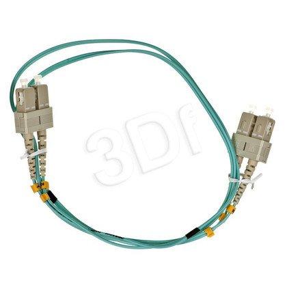 ALANTEC patchcord światłowodowy MM LSOH 1m OM3 SC-SC duplex 50/125 turkusowy