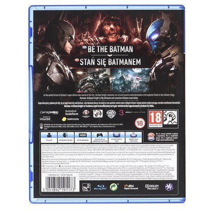 Gra Ps4 Batman Arkham Knight GRAM
