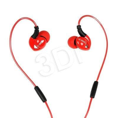 Słuchawki douszne z mikrofonem I-Box S1 Sport (czerwono-czarny)