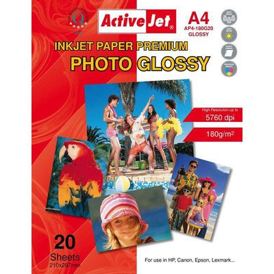 AP4-180G20 Activejet Papier foto błyszczący A4 20szt 180g