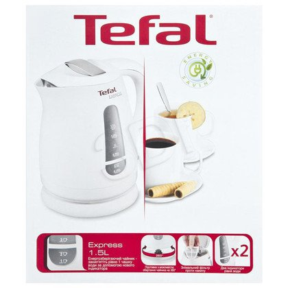 Czajnik elektryczny Tefal KO2991 (1,5l 2200W Biały)