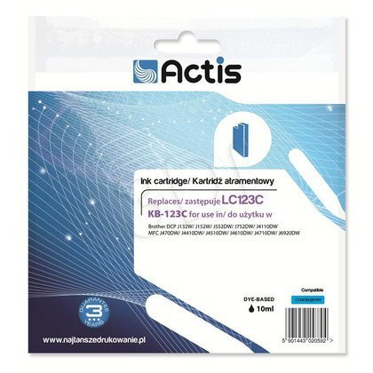 Actis KB-123C tusz cyan do drukarki Brother (zamiennik Brother LC123C) Standard