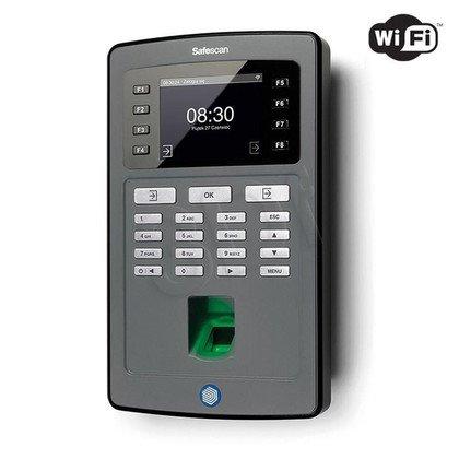 SAFESCAN SYSTEM REJESTRACJI CZASU PRACY TA-8035 CZUJNIK ODCISKÓW PALCÓW/CZYTNIK RFID/KONTROLA LAN+WIFI/EKRAN TFT/KOLOR CZARNY