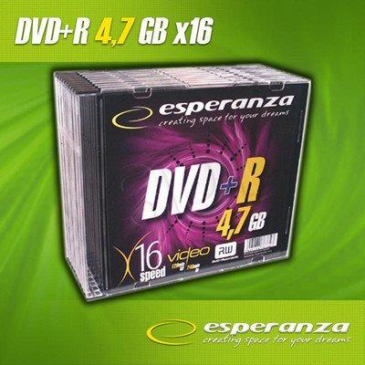 DVD+R Esperanza 4.7GB 16xSpeed (Slim 10szt)