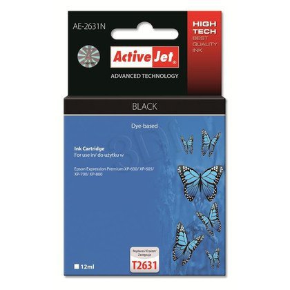 ActiveJet AE-2631N tusz czarny fotograficzny do drukarki Epson (zamiennik Epson T2631) Supreme