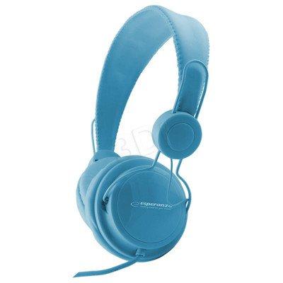 Słuchawki nauszne z mikrofonem Esperanza SENSATION (Niebieski)
