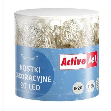DEKORACJA KOSTKI 20LED AJE-LED-DECO/WW/3XAA/1