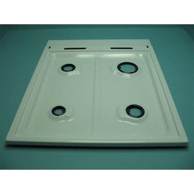 Płyta gaz.500,biała(2komin,b/zap,b/zab) (9001541)