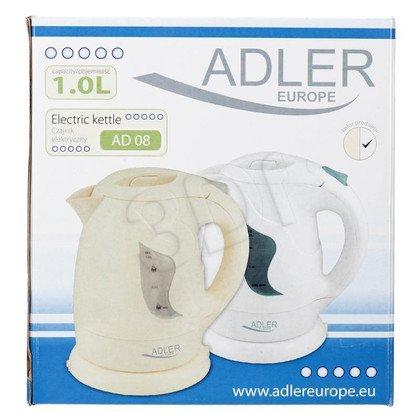 Czajnik elektryczny ADLER AD 08 (1 l / 900W / biały)