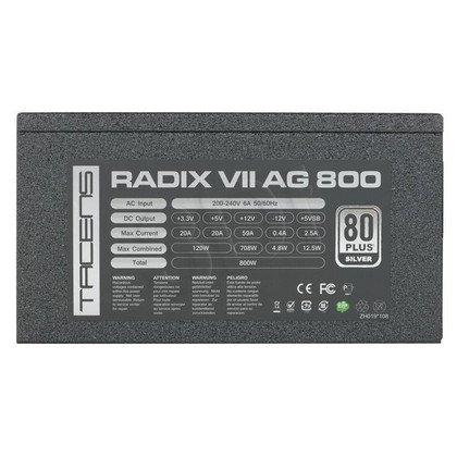 ZASILACZ TACENS RADIX VII - 800W - 80+ SILVER