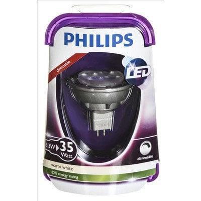 Philips żarówka LED 8718696490334 (punktowa 380lm 6,3W GU5.3 ciepła biel)