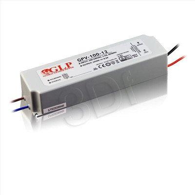 Zasilacz stałonapięciowy do LED GLP GPV-100-12 (12V 99,6W) HERMETYCZNY