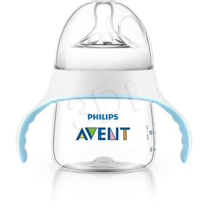 Zestaw przejściowy butelka-kubek Philips Avent SCF251/00 (biało-błękitny)