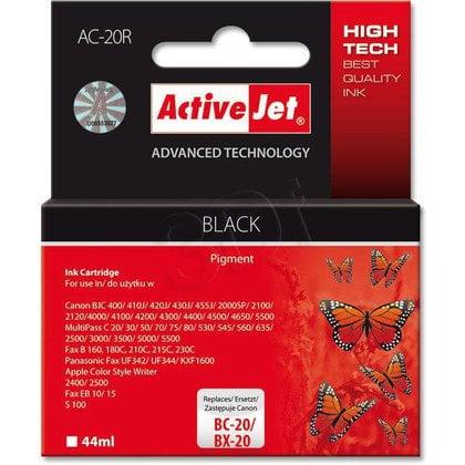 ActiveJet AC-20R (ACX-20) tusz czarny do drukarki Canon (zamiennik Canon BC-20, Canon BX-20)