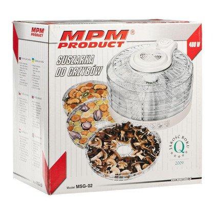 Suszarka do grzybów i owoców MPM MSG-02 (400W Biały)